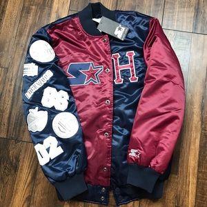 HUF Starter Satin Varsity Bomber Baseball Jacket